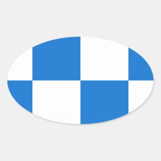 Bandeira de Dalfsen Adesivo Oval