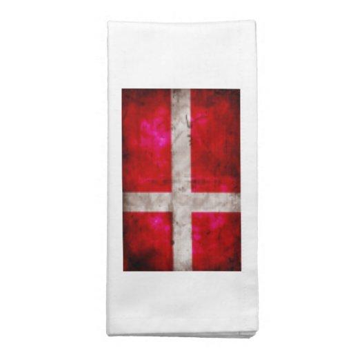 Bandeira de Danmark Guardanapos Impresso