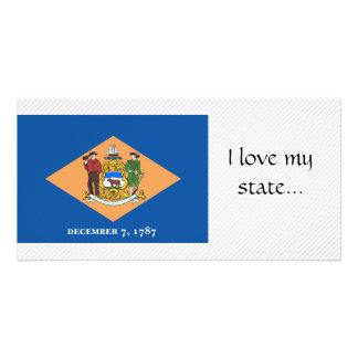 Bandeira de Delaware Cartão Com Foto Personalizado