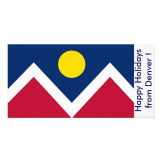 Bandeira de Denver, boas festas de Denver, EUA Cartões Com Fotos
