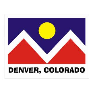 Bandeira de Denver, Colorado Cartão Postal