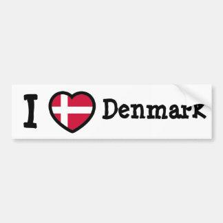 Bandeira de Dinamarca Adesivos