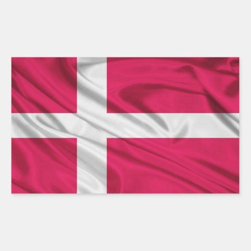Bandeira de Dinamarca Adesivos Retangular