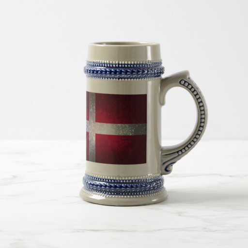 Bandeira de Dinamarca Caneca