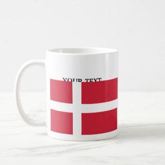 Bandeira de Dinamarca Caneca De Café