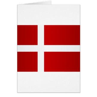 Bandeira de Dinamarca Cartão