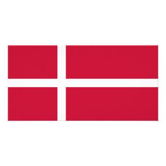 Bandeira de Dinamarca Cartão Com Foto