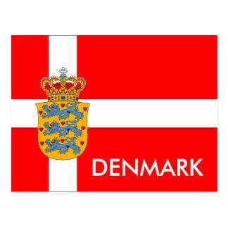 Bandeira de Dinamarca & cartão da brasão!