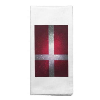 Bandeira de Dinamarca Guardanapo Impresso