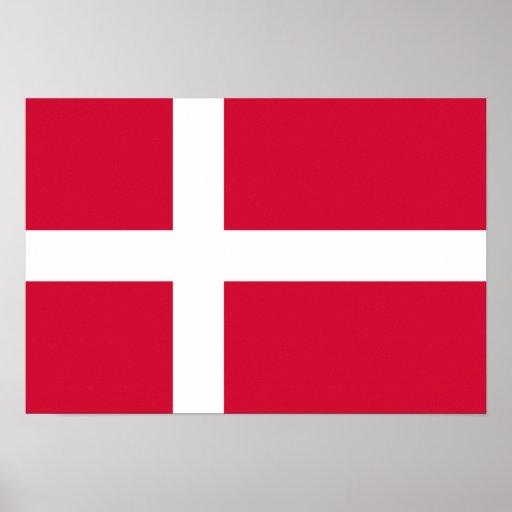 Bandeira de Dinamarca Posters