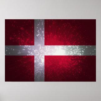 Bandeira de Dinamarca Poster