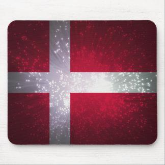 Bandeira de Dinamarca Mouse Pads