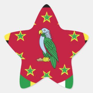 Bandeira de Dominica Adesivos Em Forma De Estrelas