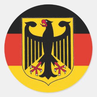 Bandeira de Eagle do alemão Adesivo Redondo