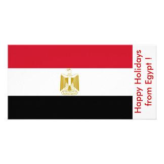 Bandeira de Egipto, boas festas de Egipto Cartão Com Foto