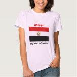 Bandeira de Egipto + Mapa + T-shirt do texto