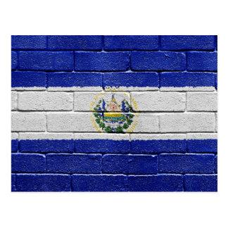 Bandeira de El Salvador Cartao Postal