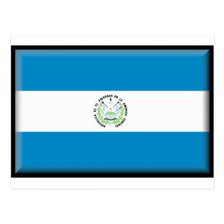 Bandeira de El Salvador Cartão Postal