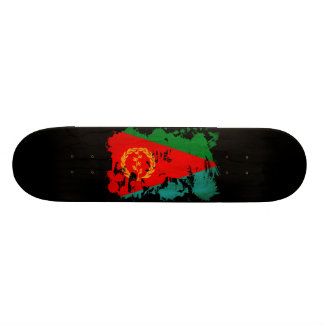 Bandeira de Eritrea Shape De Skate 18,1cm