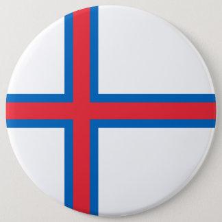 Bandeira de Faroe Island Bóton Redondo 15.24cm