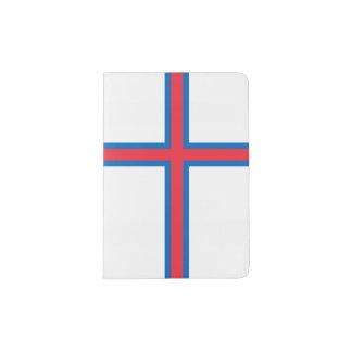 Bandeira de Faroe Island Capa Para Passaporte
