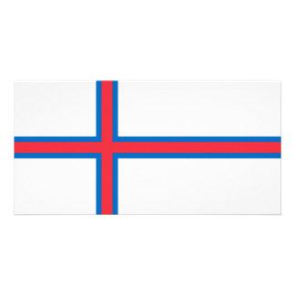 Bandeira de Faroe Island Cartão Com Foto