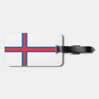 Bandeira de Faroe Island Etiqueta De Bagagem