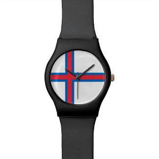 Bandeira de Faroe Island Relogio