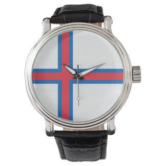 Bandeira de Faroe Island Relógio De Pulso