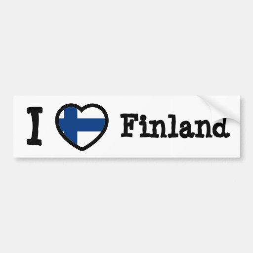 Bandeira de Finlandia Adesivo