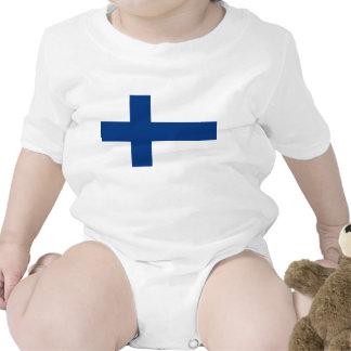 Bandeira de Finlandia Macacãozinhos Para Bebê