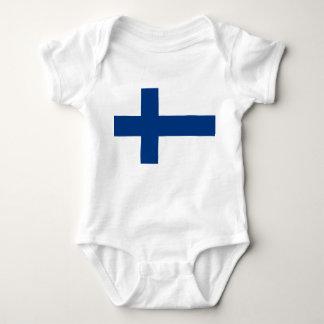 Bandeira de Finlandia Camisetas