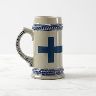 Bandeira de Finlandia Caneca De Chopp
