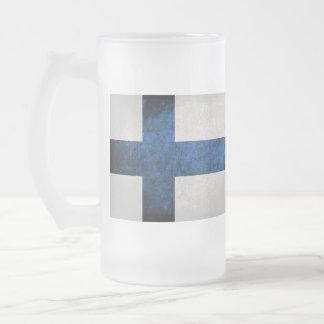 Bandeira de Finlandia Caneca