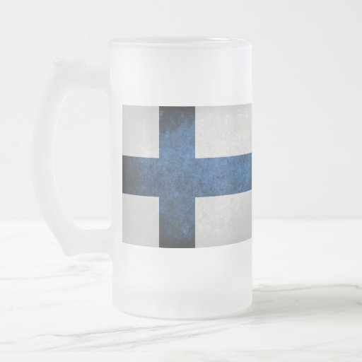 Bandeira de Finlandia; Caneca