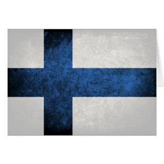 Bandeira de Finlandia Cartão De Nota