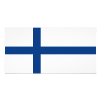 Bandeira de Finlandia Cartão Com Foto