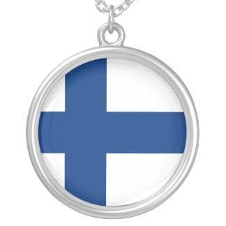 Bandeira de Finlandia Colar Personalizado