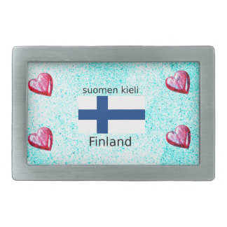 Bandeira de Finlandia e design finlandês da língua