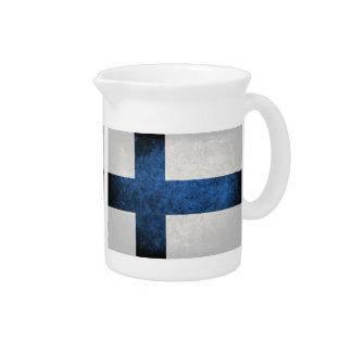 Bandeira de Finlandia; Jarro Para Bebida