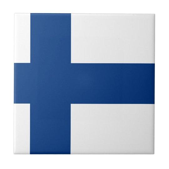 Bandeira de Finlandia (lippu de Suomen, flagga de Azulejo Quadrado Pequeno