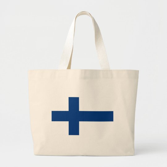 Bandeira de Finlandia (lippu de Suomen, flagga de Bolsa Tote Grande