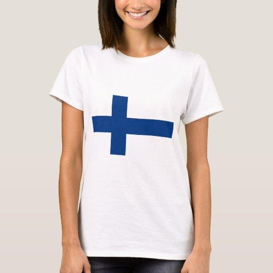 Bandeira de Finlandia (lippu de Suomen, flagga de Camiseta