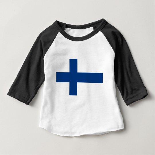Bandeira de Finlandia (lippu de Suomen, flagga de Camiseta Para Bebê