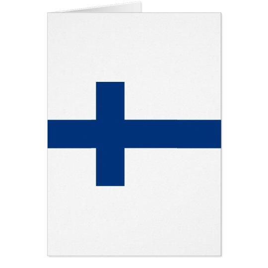 Bandeira de Finlandia (lippu de Suomen, flagga de Cartão Comemorativo