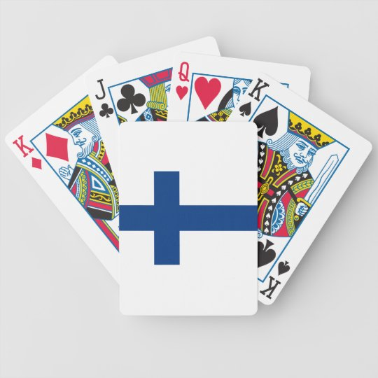 Bandeira de Finlandia (lippu de Suomen, flagga de Cartas De Baralhos