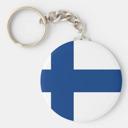 Bandeira de Finlandia (lippu de Suomen, flagga de Chaveiro