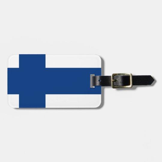 Bandeira de Finlandia (lippu de Suomen, flagga de Etiqueta De Bagagem