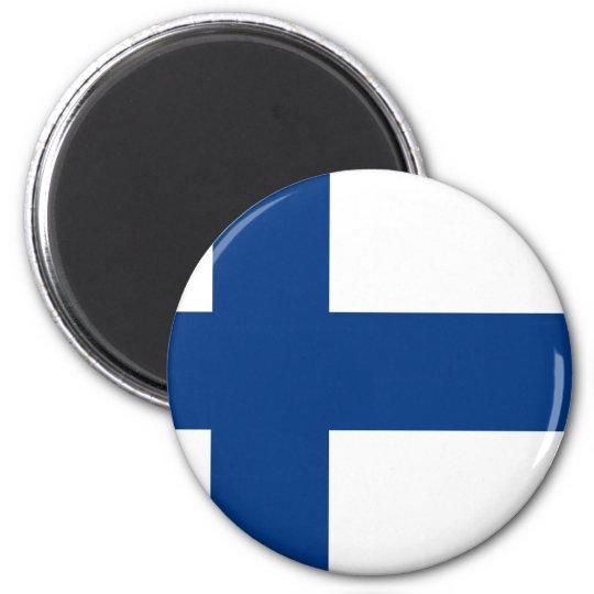 Bandeira de Finlandia (lippu de Suomen, flagga de Ímã Redondo 5.08cm