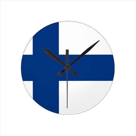 Bandeira de Finlandia (lippu de Suomen, flagga de Relógio Redondo